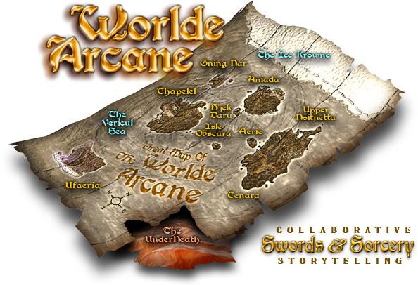 Map of Worlde Arcane